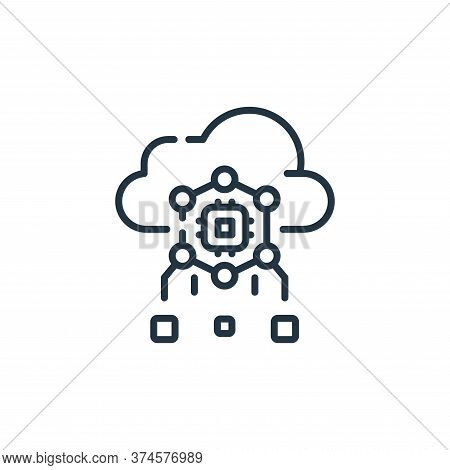 cloud computing icon isolated on white background from robotics collection. cloud computing icon tre
