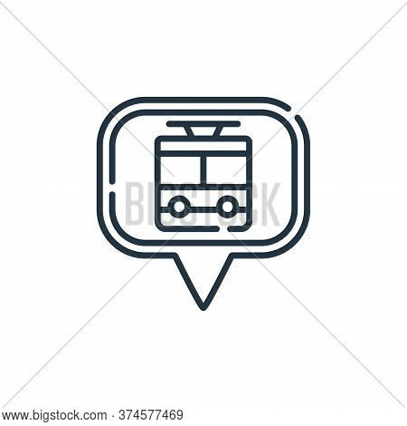 train station icon isolated on white background from navigation and maps collection. train station i