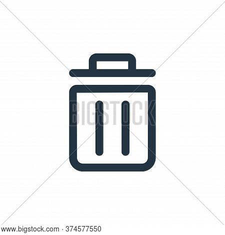 trash icon isolated on white background from interface collection. trash icon trendy and modern tras