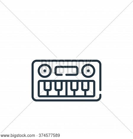 keyboard icon isolated on white background from children toys collection. keyboard icon trendy and m