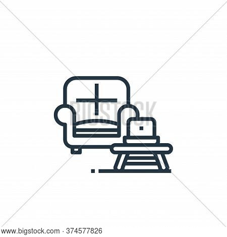 sofa icon isolated on white background from work from home collection. sofa icon trendy and modern s