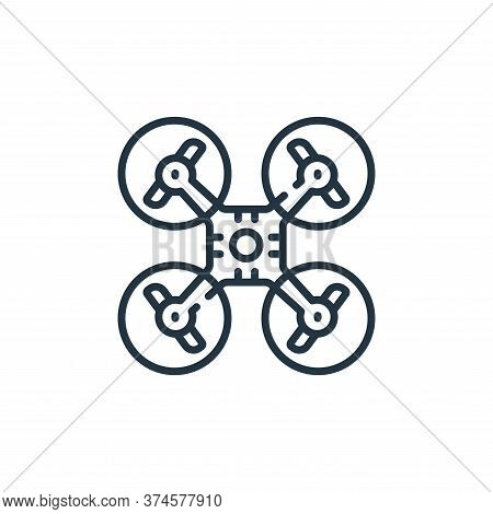 drone icon isolated on white background from social media collection. drone icon trendy and modern d