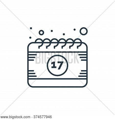 calendar icon isolated on white background from saint patrick collection. calendar icon trendy and m