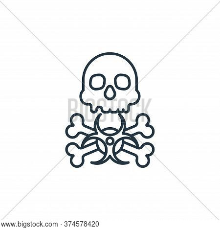 biohazard icon isolated on white background from coronavirus collection. biohazard icon trendy and m