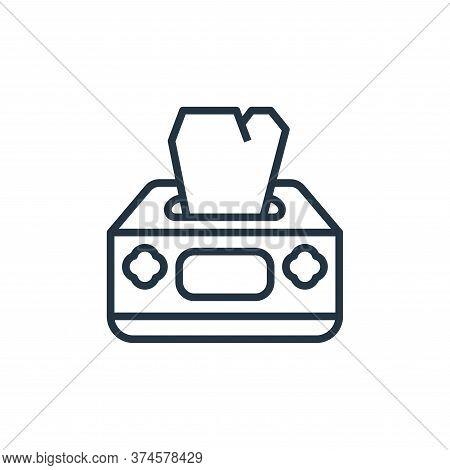 tissue box icon isolated on white background from coronavirus collection. tissue box icon trendy and