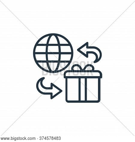 worldwide shipping icon isolated on white background from shopping line icons collection. worldwide