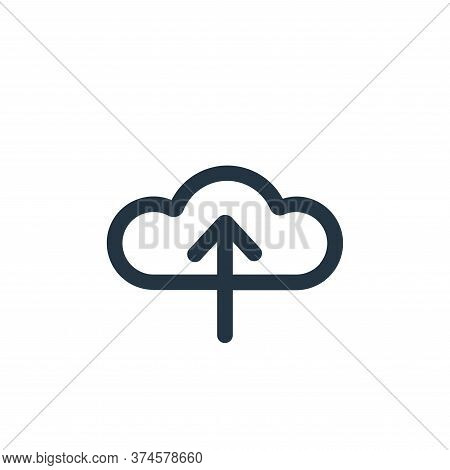 upload icon isolated on white background from device collection. upload icon trendy and modern uploa
