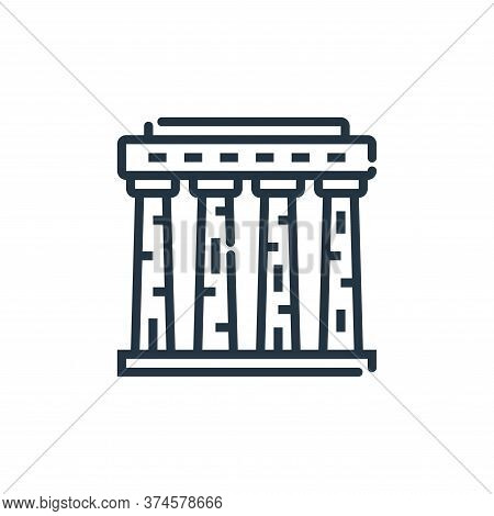 athens icon isolated on white background from world monument collection. athens icon trendy and mode