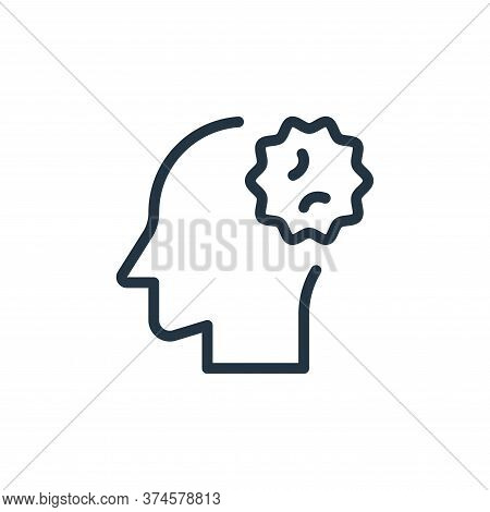 head icon isolated on white background from coronavirus collection. head icon trendy and modern head
