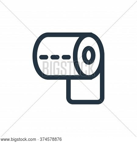 toilet paper icon isolated on white background from coronavirus collection. toilet paper icon trendy