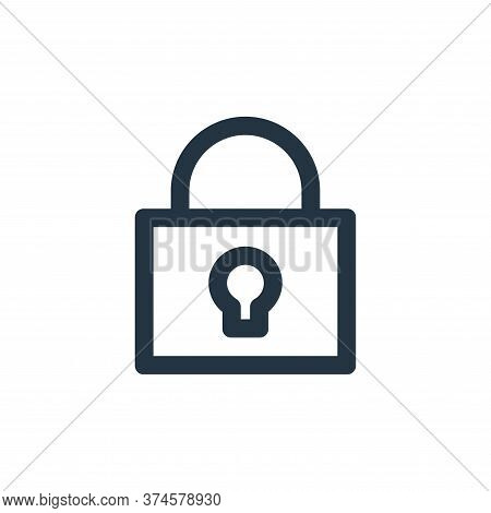 lock icon isolated on white background from user interface collection. lock icon trendy and modern l