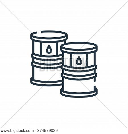 oil barrel icon isolated on white background from industrial process collection. oil barrel icon tre