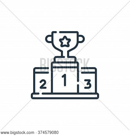 podium icon isolated on white background from auto racing collection. podium icon trendy and modern