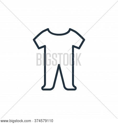 baby cloth icon isolated on white background from wardrobe collection. baby cloth icon trendy and mo