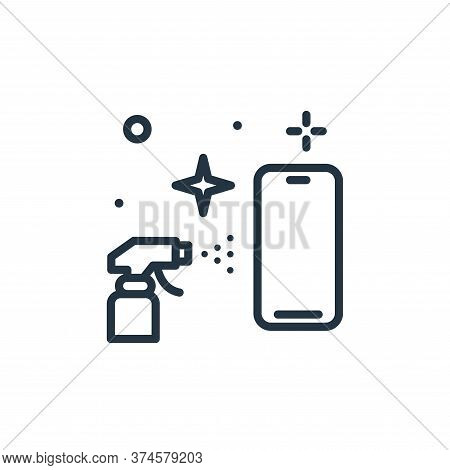 smartphone icon isolated on white background from hygiene collection. smartphone icon trendy and mod