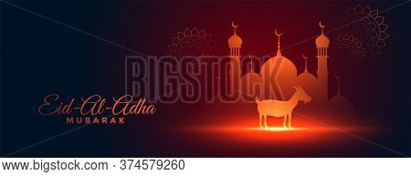 Beautiful Bakra Eid Al Adha Festival Banner Design