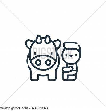 cow icon isolated on white background from animal welfare collection. cow icon trendy and modern cow