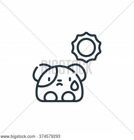 dog icon isolated on white background from animal welfare collection. dog icon trendy and modern dog