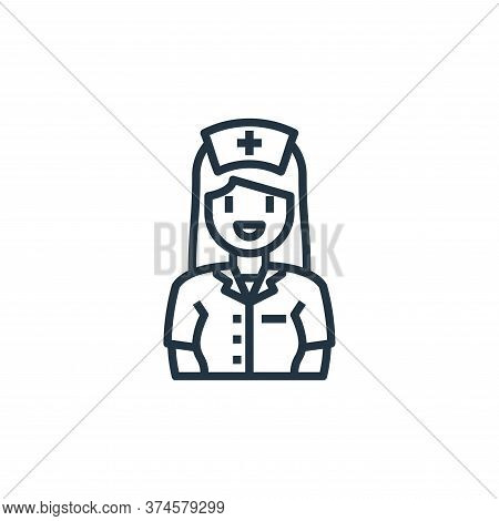 nurse icon isolated on white background from hospital collection. nurse icon trendy and modern nurse