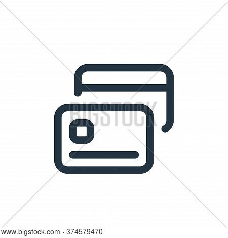 credit card icon isolated on white background from web apps seo collection. credit card icon trendy