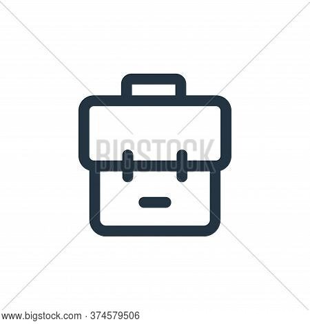 bag icon isolated on white background from business collection. bag icon trendy and modern bag symbo