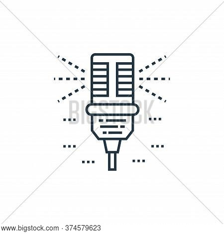 microphone icon isolated on white background from technology devices collection. microphone icon tre