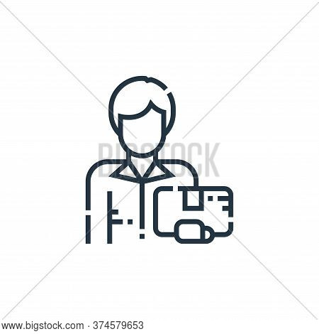 delivery man icon isolated on white background from delivery collection. delivery man icon trendy an