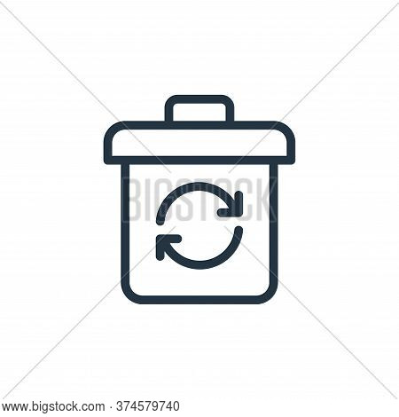recycle icon isolated on white background from work office supply collection. recycle icon trendy an