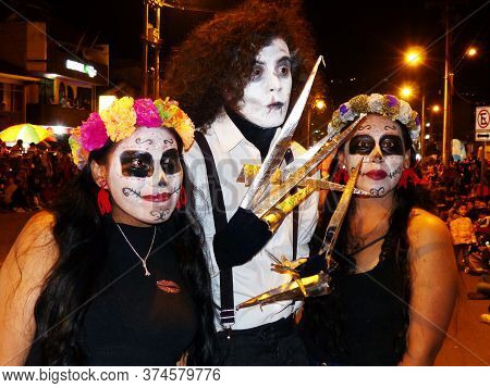 Cuenca, Ecuador - January 6, 2020: Traditional Parade Or Masquerade On Day Of The Innocents In Cuenc