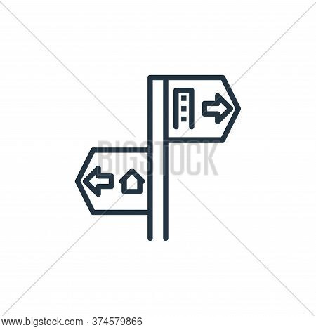 direction icon isolated on white background from work from home collection. direction icon trendy an