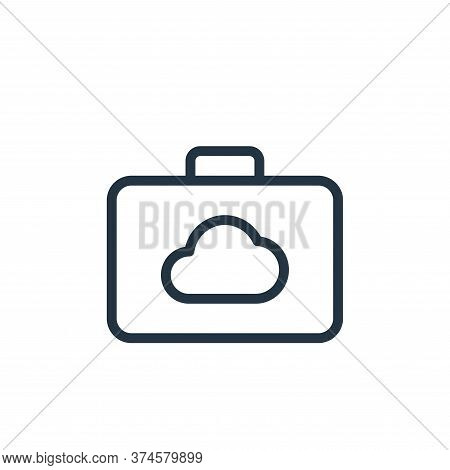 suitcase icon isolated on white background from work office server collection. suitcase icon trendy