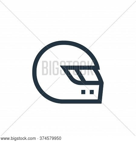 motorbike helmet icon isolated on white background from hobbies collection. motorbike helmet icon tr