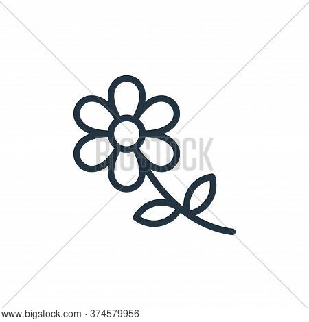 flower icon isolated on white background from photography collection. flower icon trendy and modern