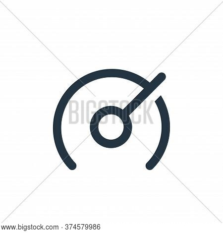 speedometer icon isolated on white background from user interface collection. speedometer icon trend