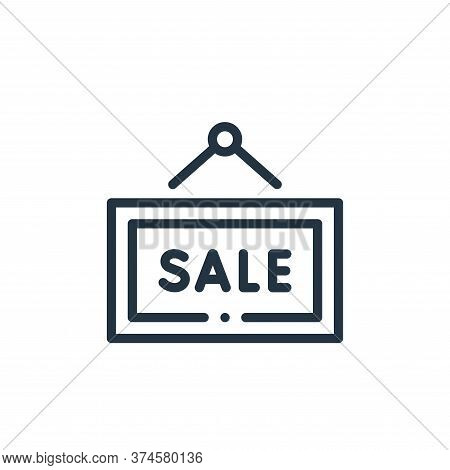 sale sign icon isolated on white background from online shopping collection. sale sign icon trendy a