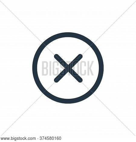 close icon isolated on white background from interface collection. close icon trendy and modern clos