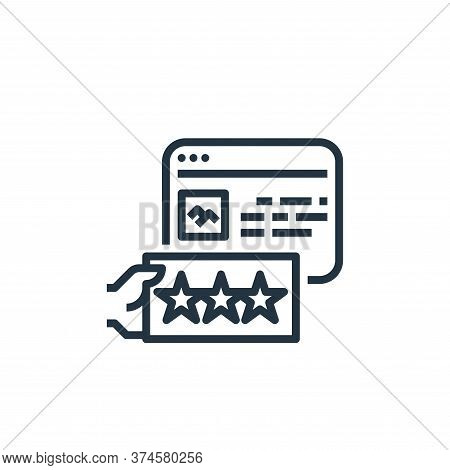feedback icon isolated on white background from user experience collection. feedback icon trendy and