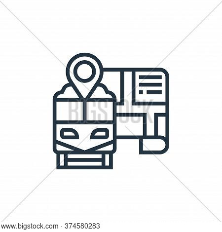 map pointer icon isolated on white background from railway collection. map pointer icon trendy and m