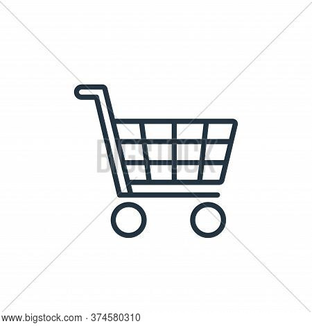 shopping cart icon isolated on white background from ecommerce collection. shopping cart icon trendy