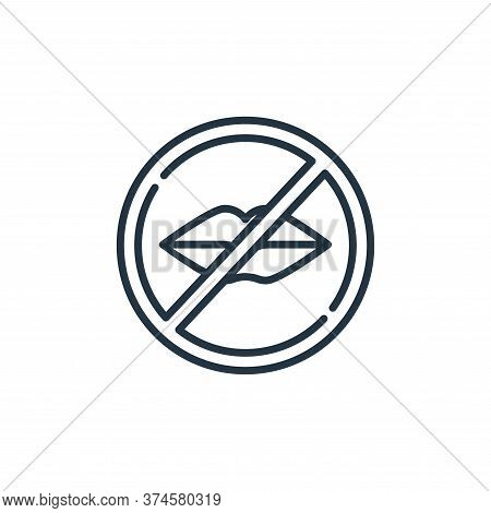 silence icon isolated on white background from signals and prohibitions collection. silence icon tre