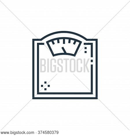 weight scale icon isolated on white background from medical services collection. weight scale icon t