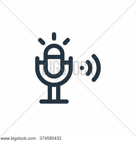 microphone icon isolated on white background from internet of things collection. microphone icon tre