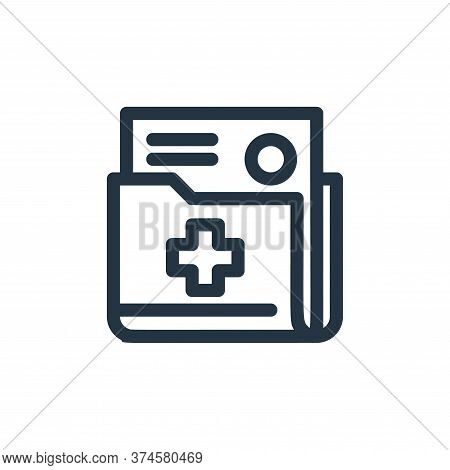 document icon isolated on white background from medical tools collection. document icon trendy and m