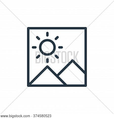 picture icon isolated on white background from miscellaneous collection. picture icon trendy and mod