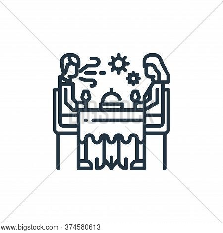 dinner icon isolated on white background from virus transmission collection. dinner icon trendy and