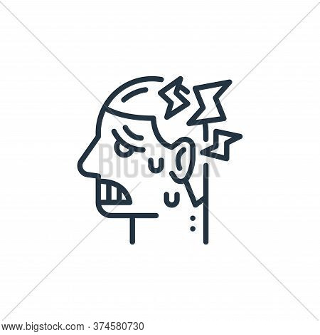 headache icon isolated on white background from virus transmission collection. headache icon trendy