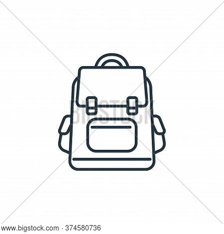 backpack icon isolated on white background from clothes and outfit collection. backpack icon trendy