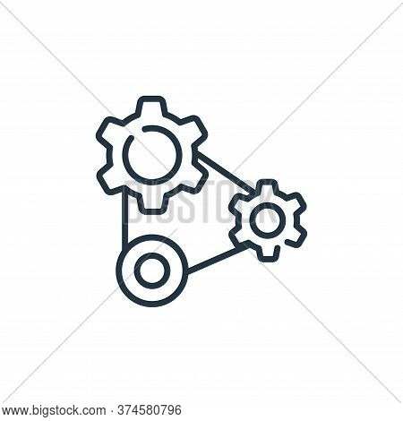 cogwheels icon isolated on white background from industrial process collection. cogwheels icon trend