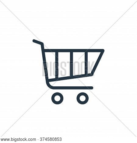shopping cart icon isolated on white background from banking and finance flat icons collection. shop