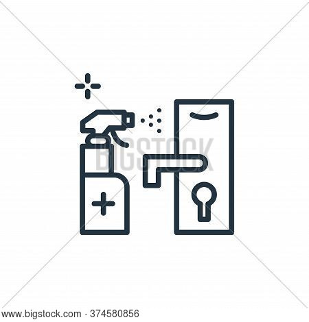 door lock icon isolated on white background from hygiene collection. door lock icon trendy and moder